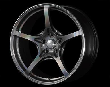 "Volk G50 5x100 18"" Prism Dark Silver Wheels"