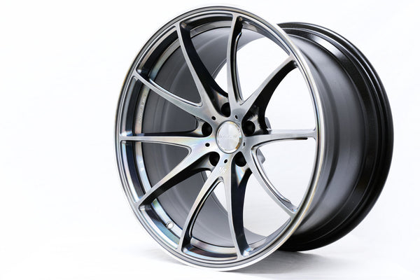 "Volk G25 5x100 19x8.0"" +45mm Offset Mercury Silver II Wheels"
