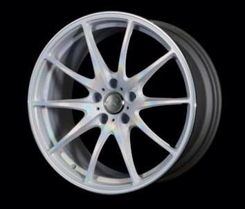 "Volk G25 5x100 19x8.0"" +45mm Offset Prism Crystal White Wheels"