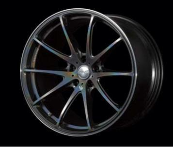 "Volk G25 5x100 19x8.0"" +45mm Offset Prism Dark Silver Wheels"
