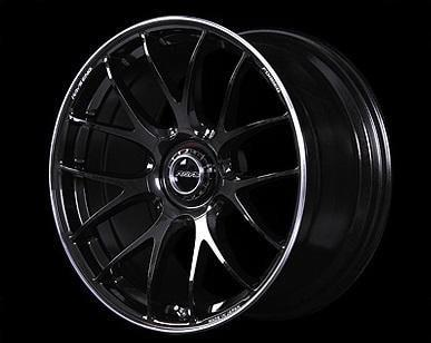 "Volk G27 5x114.3 20x10.0"" +35mm Offset Formula Silver / Black Clear Wheels"