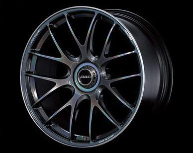 "Volk G27 5x114.3 21x11.0"" +15mm Offset Prism Dark Silver Wheels"
