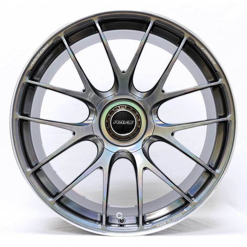 "Volk G27 5x114.3 21x11.0"" +15mm Offset Prism Light Silver Wheels"