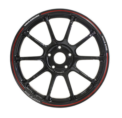 "Volk ZE40 Time Attack 5x112 17x7.5"" +43mm Offset Black / REDOT Wheels"