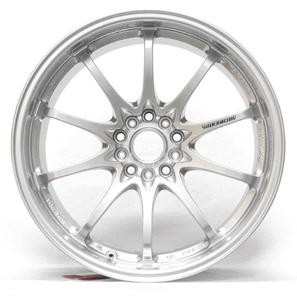 "Volk CE28N 5x100 18x8.5"" +44mm Offset Formula Silver Wheels"
