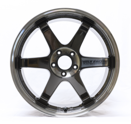 Volk TE37SL Pressed Double Black Wheel 18x10.5/5x114.3/+22 Offset (WVSLAC22EPDB)