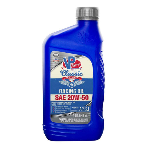 VP Racing Fuels SAE 20W-50 Classic Non Syn Racing Oil - 1 Quart (2691)