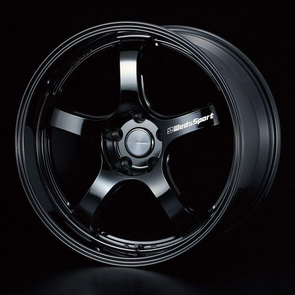 "WedsSport RN-05M 5x114.3 19"" Gloss Black Wheels"
