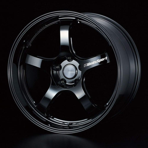 "WedsSport RN-05M 5x120 18"" Gloss Black Wheels"