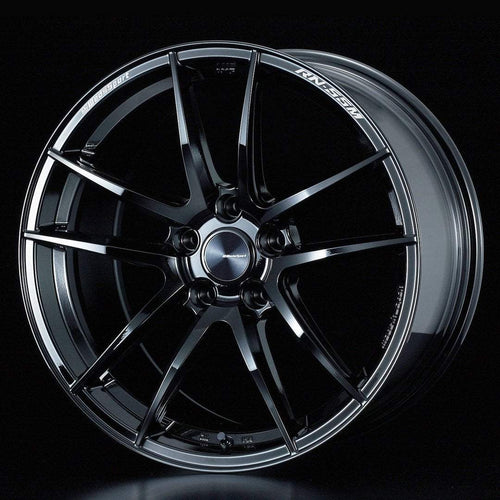 "WedsSport RN-55M 5x114.3 18"" Gloss Black Wheels"