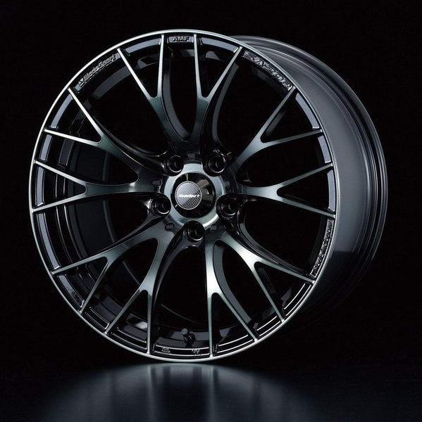 "WedsSport SA-20R 5x114.3 16"" Weds Black Clear Wheels"