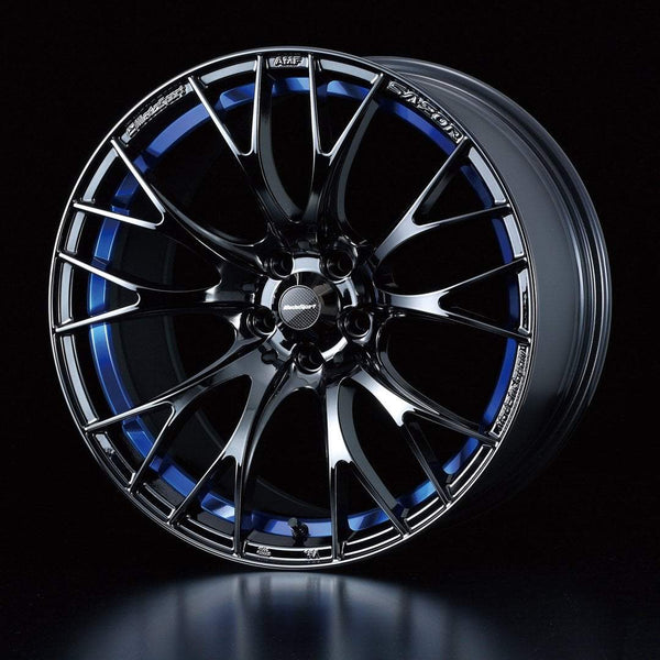 "WedsSport SA-20R 4x100 17"" Blue Light Chrome Wheels"