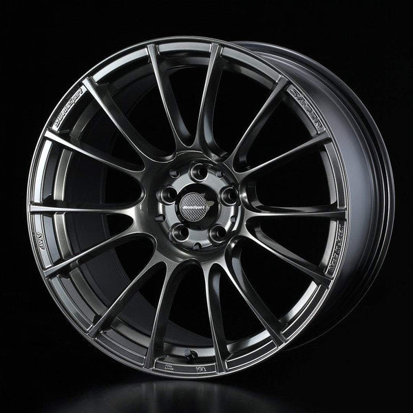 "WedsSport SA-72R 4x100 16"" Hyper Black Clear Wheels"