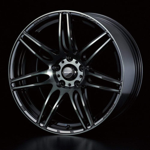 "WedsSport SA-77R 5x114.3 18"" Weds Black Clear Wheels"