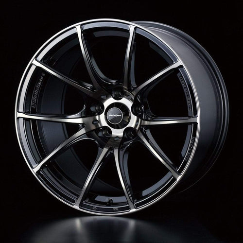 "WedsSport SA-10R 5x114.3 17x7.5"" +45mm Offset Zebra Black Clear Wheels"