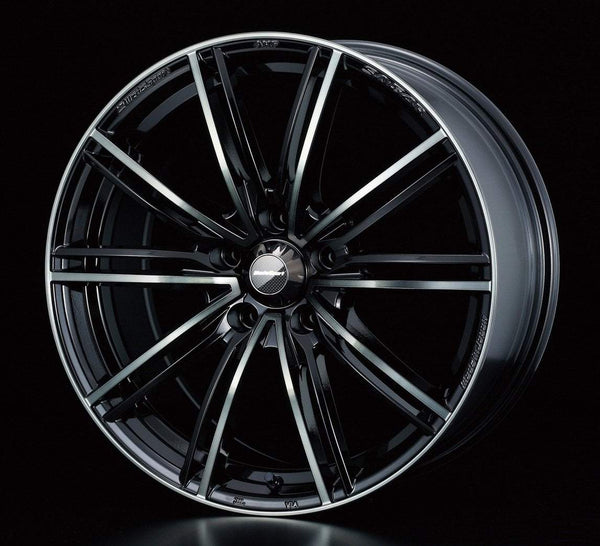 "WedsSport SA-54R 5x100 16x7.0"" +48mm Offset Hyper Black Clear Wheels"