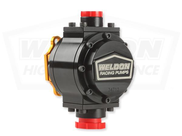 Weldon 12+ GPM Mechanical Fuel Pump (Standard Rotation) -12AN / -8AN (34712)
