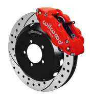 Wilwood 6R Front Drilled Big Brake Kit, Red | 2013-2020 Subaru BRZ / Scion FR-S (140-12870-DR)