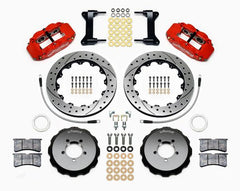 Wilwood 6R Front Drilled Big Brake Kit, Red | 2013-2019 Subaru BRZ / Scion FR-S (140-12870-DR)