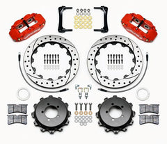 Wilwood 4R Rear Drilled Big Brake Kit, Red | 2013-2019 Subaru BRZ / Scion FR-S (140-12871-DR)
