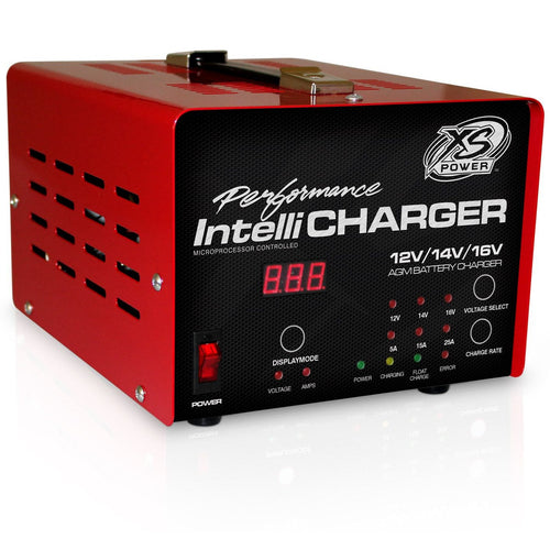 XS Power 12/14/16 Volt IntelliCharger LED indicators plus Digital Voltage/Amperage Gauge (1005)