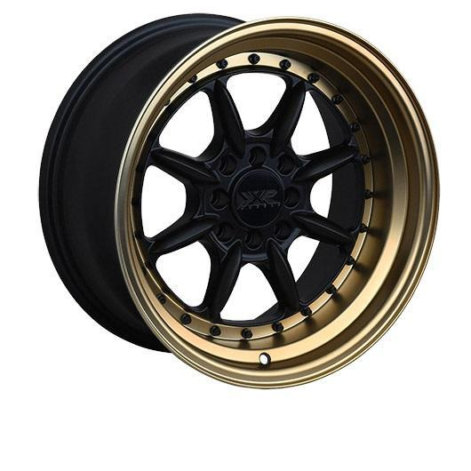 "XXR 002.5 ""The Saga"" 4x100/114.3 16"" Flat Black / Bronze Lip Wheels"