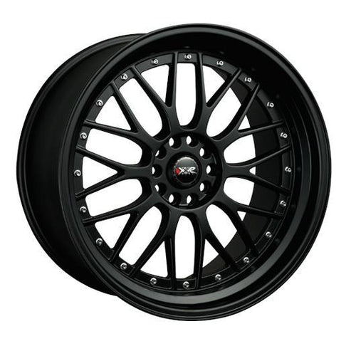 "XXR 521 ""Bolt-On Color"" 5x114.3/120 20"" Flat Black Wheels w/ Chrome Rivets"