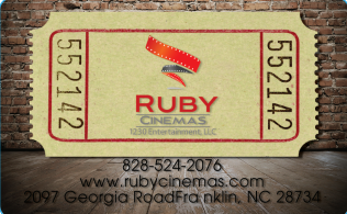 Ruby Cinemas Gift Card - Logo (Priority Mail™ Shipping)