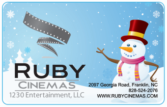 Ruby Cinemas Gift Card - Winter / Holidays (Priority Mail™ Shipping)