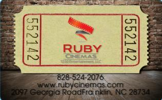 Ruby Cinemas Gift Cards