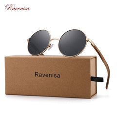 Round Wooden Polarized Sunglasses