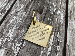 Gold Diamond Dog Tag