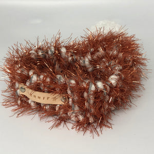 Rose Gold Glitter Knitted Pom Pom Dog Scarf