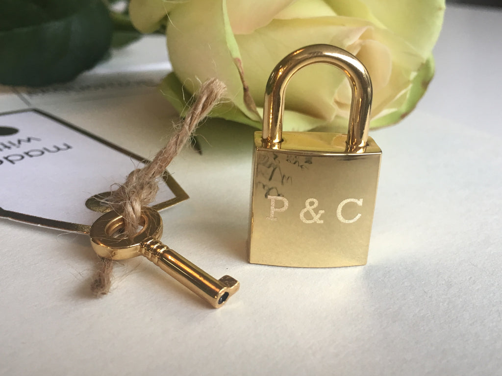 Personalised Initials Square Lovelock Keyring