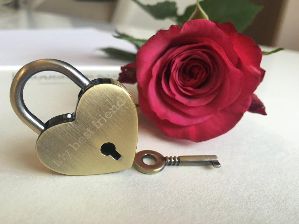 Personalised My Best Friend Heart Lovelock Keyring