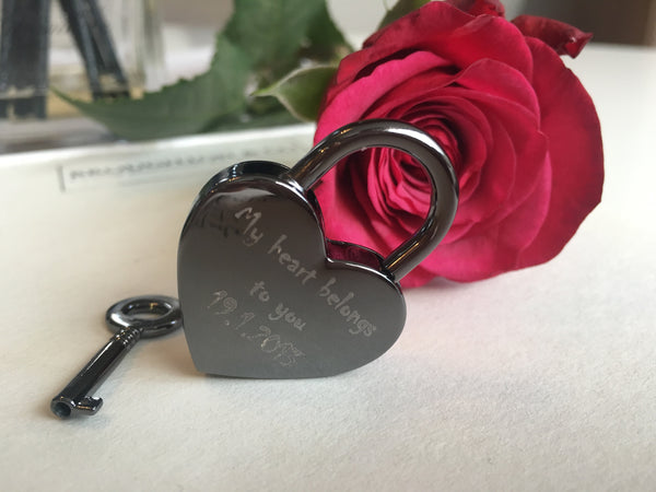 Love Is Real Heart Lovelock Keyring