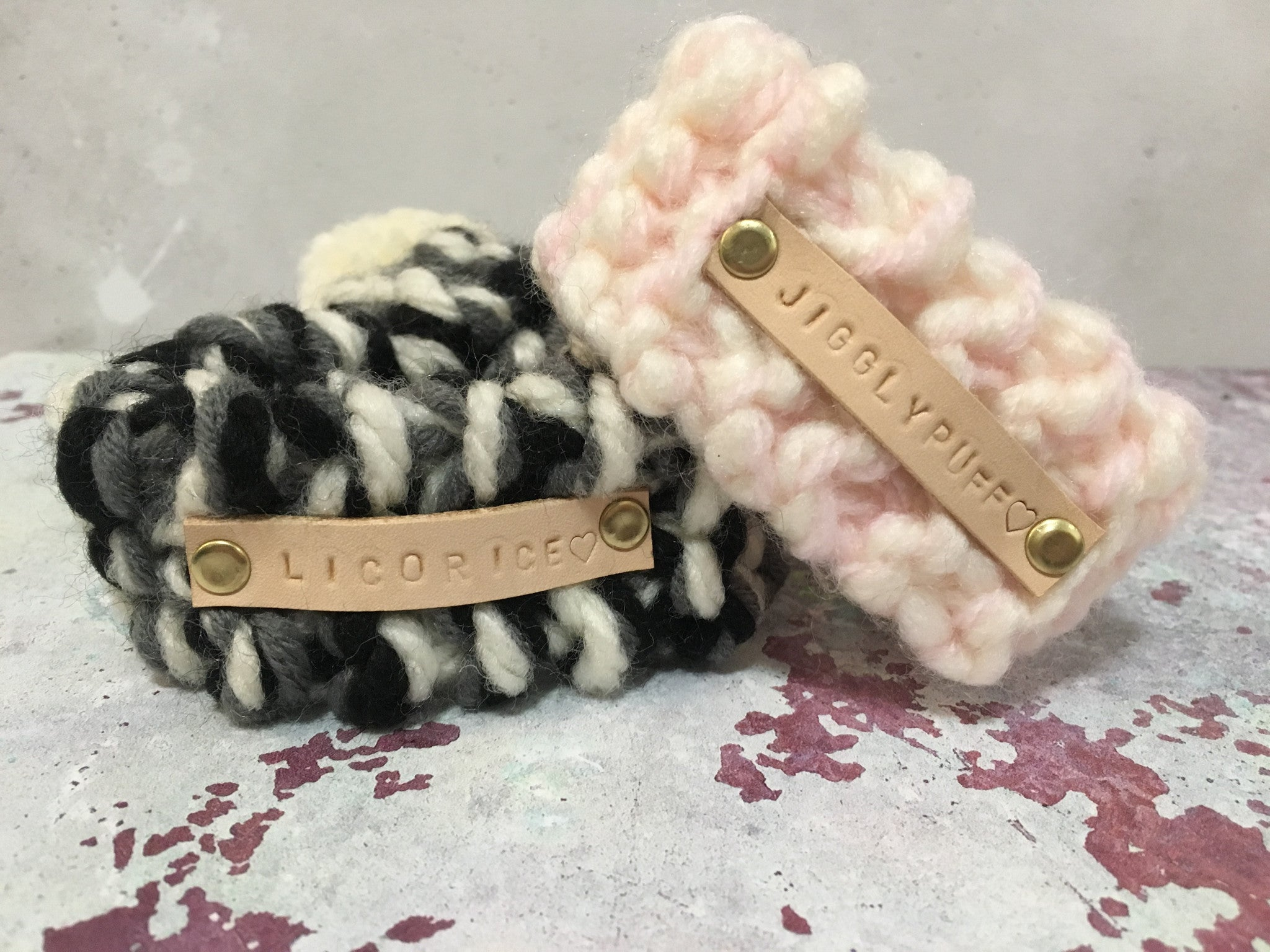 Pink & Cream Knitted Pom Pom Dog Scarf