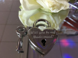 Will You Be My Bridesmaid Heart Lovelock