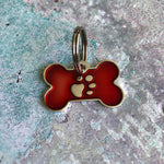 Red Bone Dog ID Tag