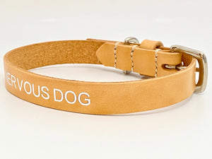 nude leather dog collar