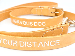 luxury natural dog collar and lead