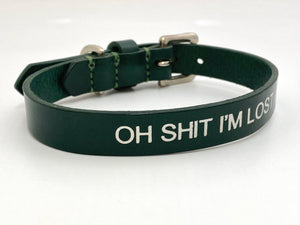 oh shit im lost dog collar