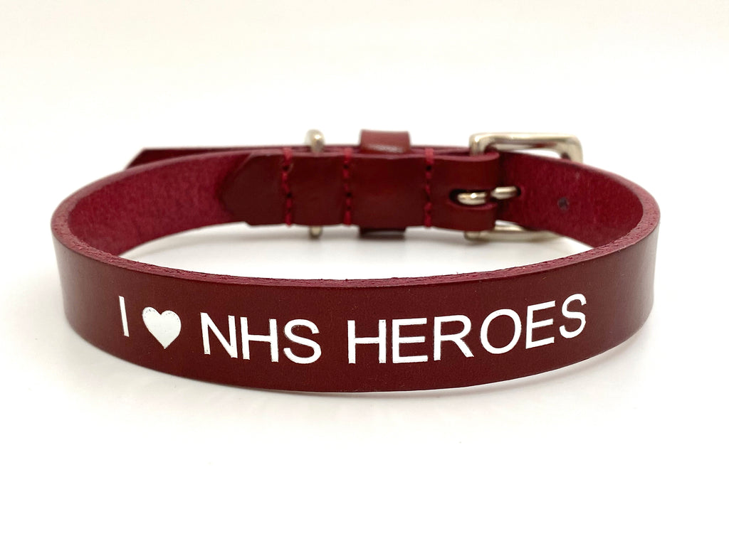 I love NHS heroes dog collar