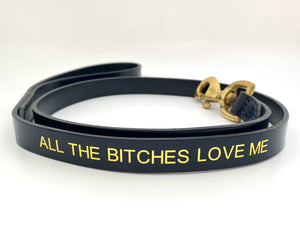 navy blue personalised lead
