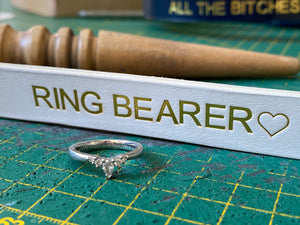 ring bearer leather dog collar