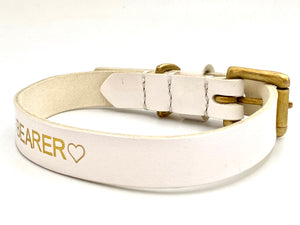 handmade personalized dog collar