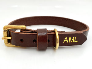 personalised initials dog collar