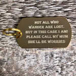Large Gold ID Dog Tag