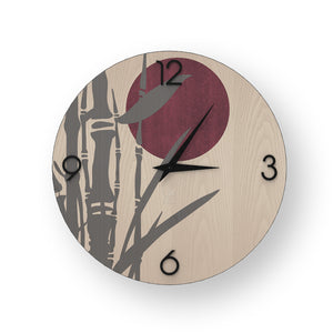 NATURE BAMBOO INLAYED WOOD CLOCK