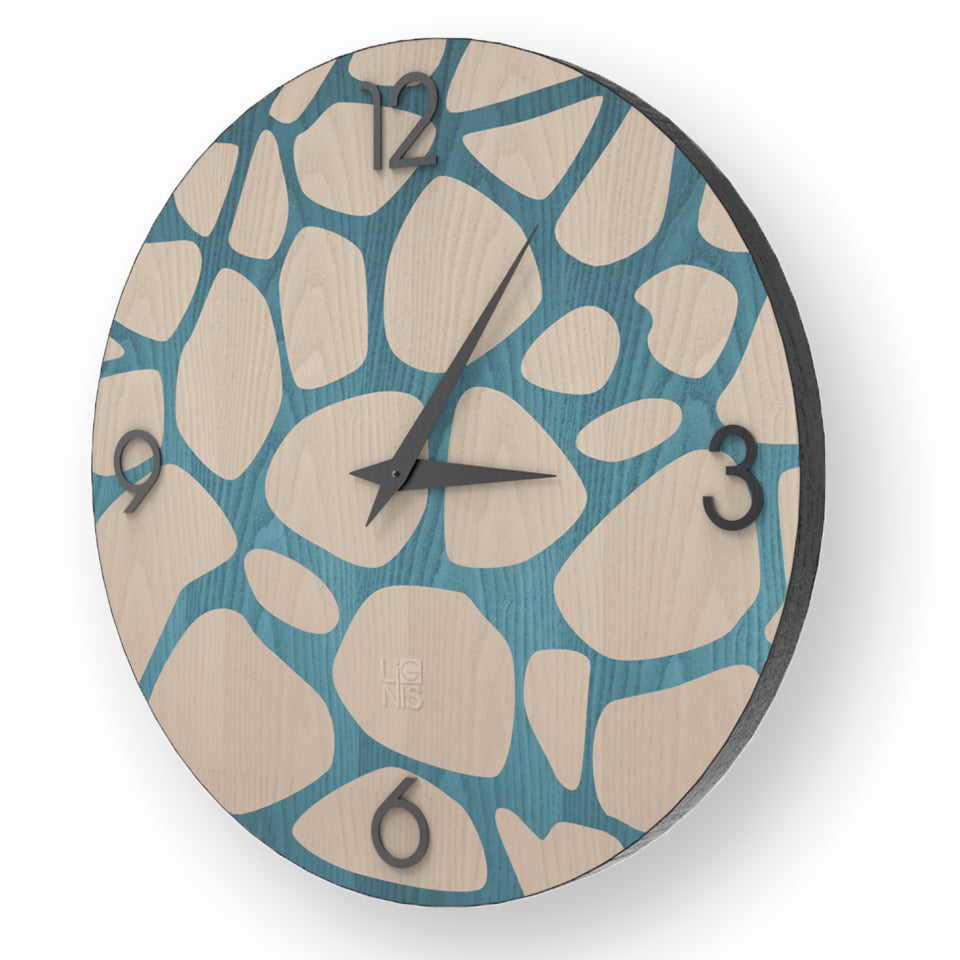 NATURE STONES INLAYED WOOD CLOCK